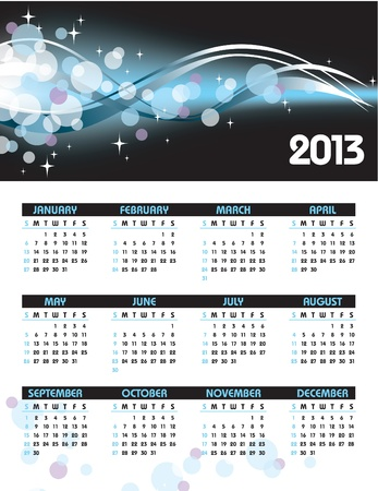 2013 Calendar  Stock Vector - 14584738