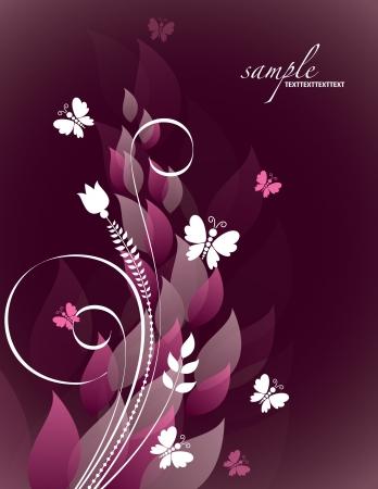 butterfly background: Floral Background    Illustration