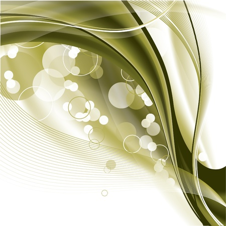 green swirl: Abstract Vector Background