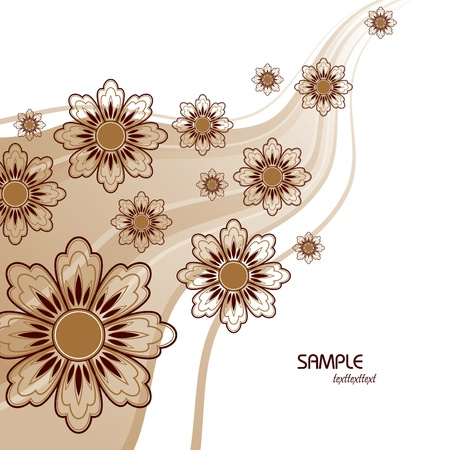 brown background: Floral Background