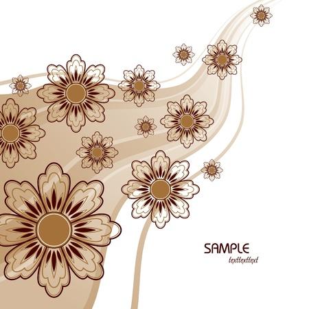 brown: Floral Background