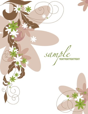 letterhead: Floral Background