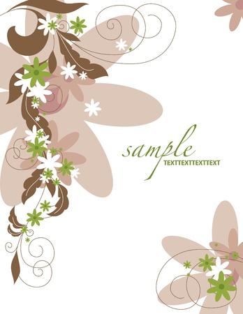 stationary border: Floral Background
