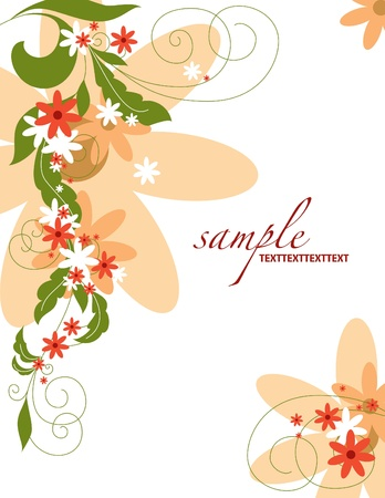 Floral Background Stock Vector - 14599542