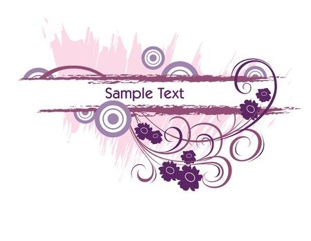 purple grunge: Vector Banner