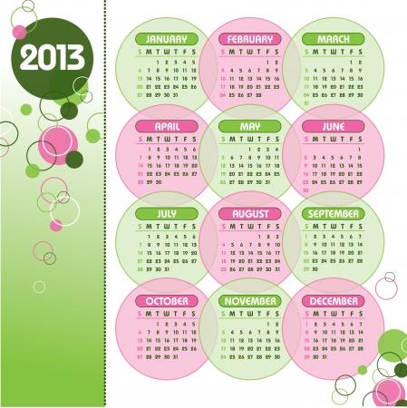 2013 Calendar Stock Vector - 14633786