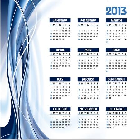 2013 Calendar  Stock Vector - 14633816
