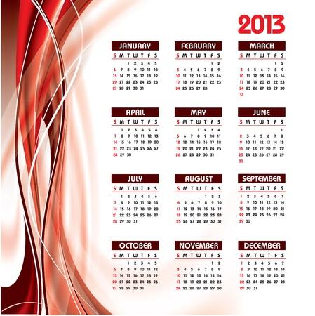 2013 Calendar Stock Vector - 14633822