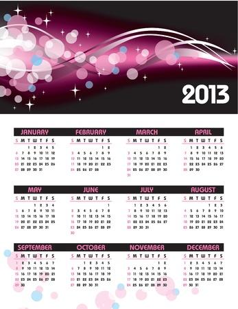 2013 Calendar Stock Vector - 14633788