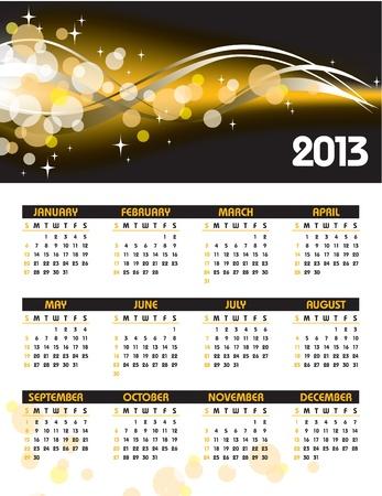 2013 Calendar  Stock Vector - 14633789