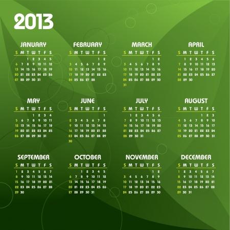 2013 Calendar Stock Vector - 14633798