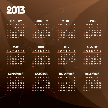 2013 Calendar  Stock Vector - 14633808