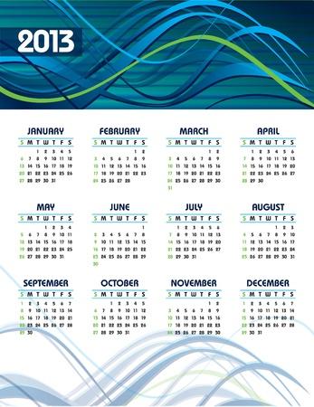 2013 Calendar Stock Vector - 14633807