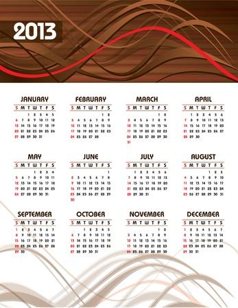 2013 Calendar  Stock Vector - 14633794
