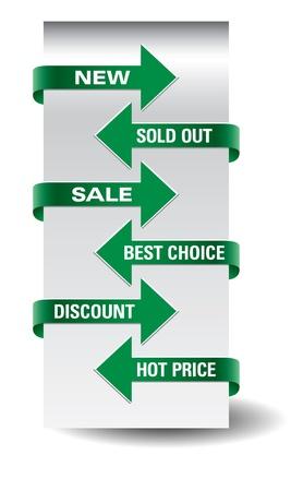 Set of vector arrow sale stickers  Stock Vector - 14633782