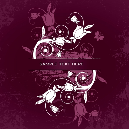 Floral Banner  Vector Illustration  Illustration