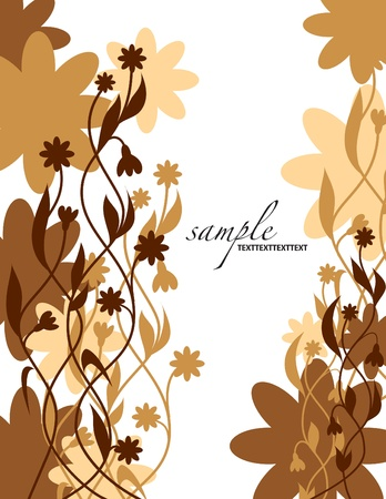 dark beige: Floral Background   Illustration
