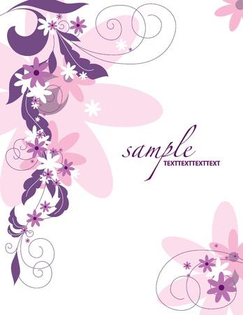 pink border: Floral Background   Illustration
