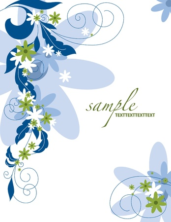 Floral Background Illustration   Stock Vector - 14667138