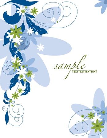 Floral Background Illustration   Vectores