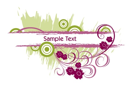 Floral Banner   Illustration  Vector