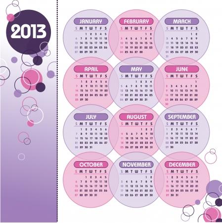 2013 Calendar Stock Vector - 14871154