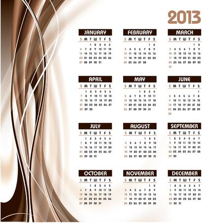2013 Calendar Stock Vector - 14871445