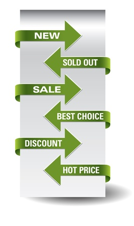 sold out: Set of arrow sale stickers  Illustration