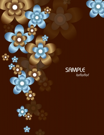 brown: Floral Background Illustration