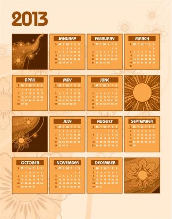 2013 Calendar Stock Vector - 14915850