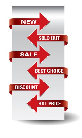 Set of arrow sale stickers Stock Vector - 14923952