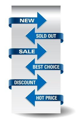 Set of arrow sale stickers  Stock Vector - 14923946