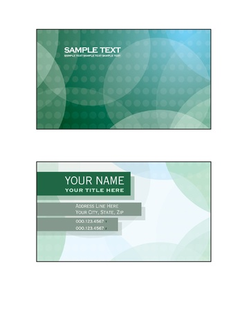 Business Card Template Stock Vector - 14894101