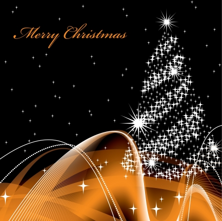 Christmas Background Vector Illustration Standard-Bild - 14895116