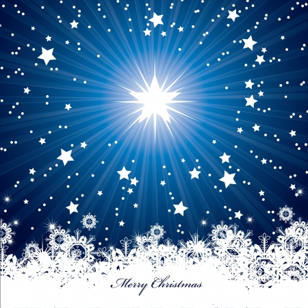 star background: Christmas Background  Vector Illustration  Illustration