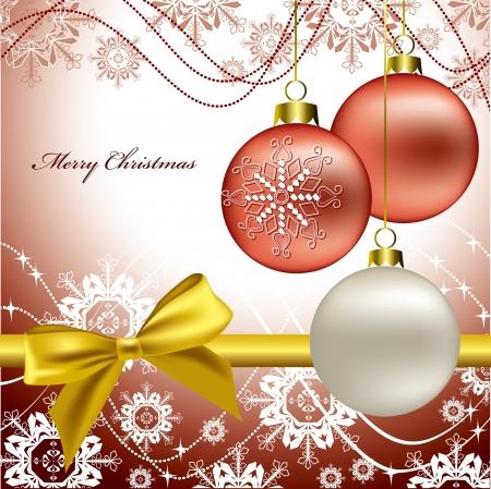 celebration: Christmas Background  Vector Illustration  Illustration
