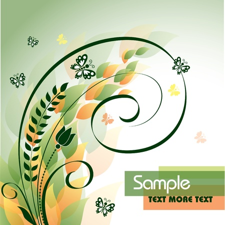 Floral Background Stock Vector - 14895791