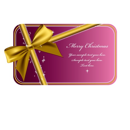 pink bow: Christmas Banner  Vector Illustration