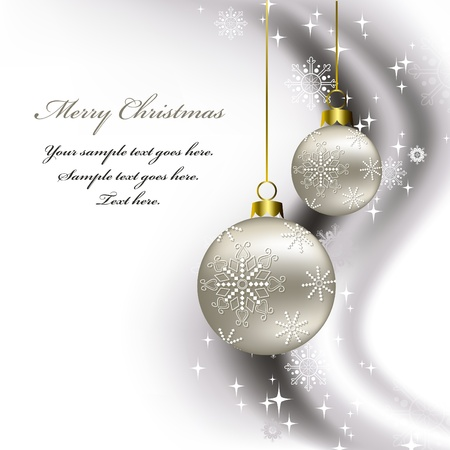 silver christmas: Christmas Background