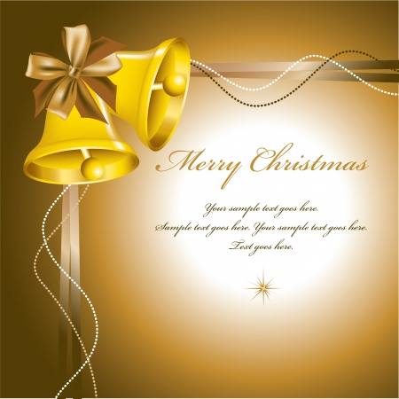 greeting card background: Christmas Background  Vector Illustration  Illustration