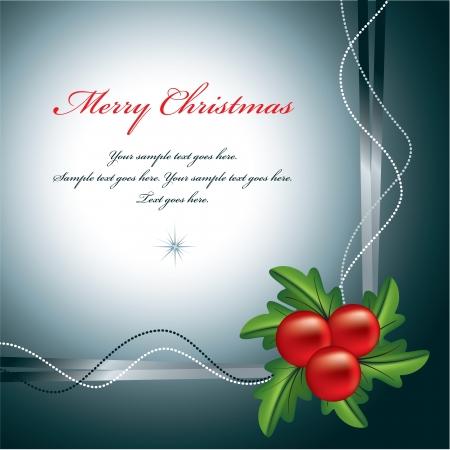 burgundy ribbon: Natale sfondo illustrazione vettoriale