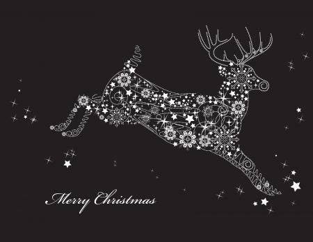 deers: Antecedentes de Navidad ilustraci�n vectorial Vectores