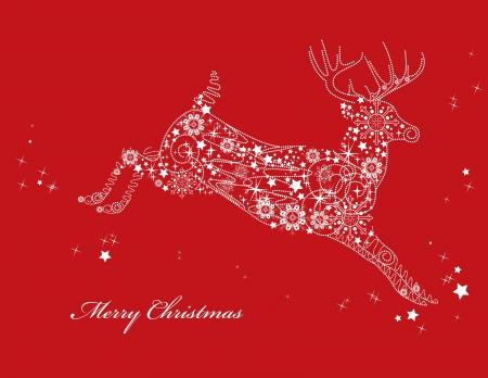 renos de navidad: Antecedentes de Navidad ilustración vectorial Vectores