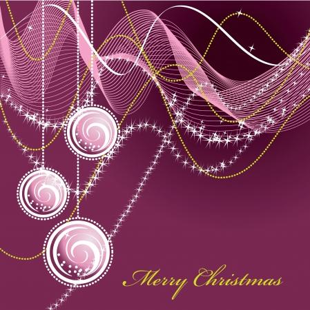 single line: Christmas Background