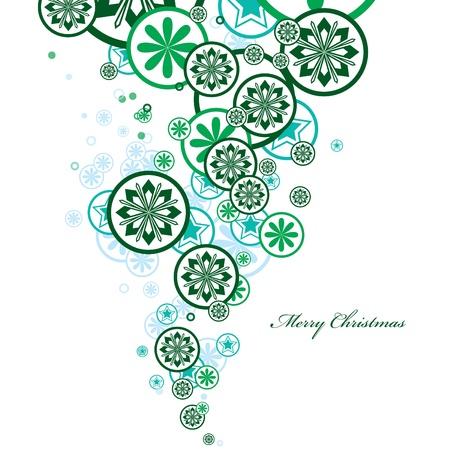 neige qui tombe: Contexte de Noël Illustration
