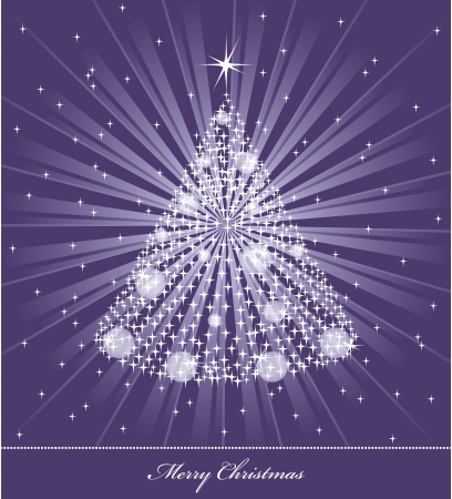 christmas tree purple: Christmas Background