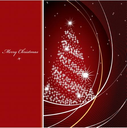 burgundy ribbon: Natale sfondo illustrazione Vettoriali