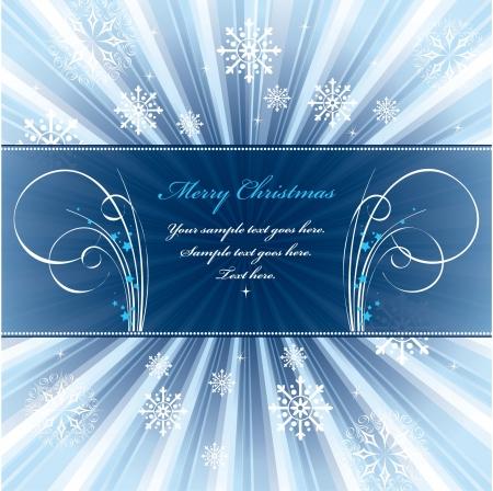 horizontal banner: Christmas Background