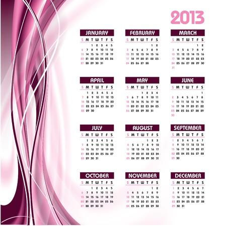 2013 Calendar Stock Vector - 14987306