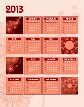 2013 Calendar Stock Vector - 14987294